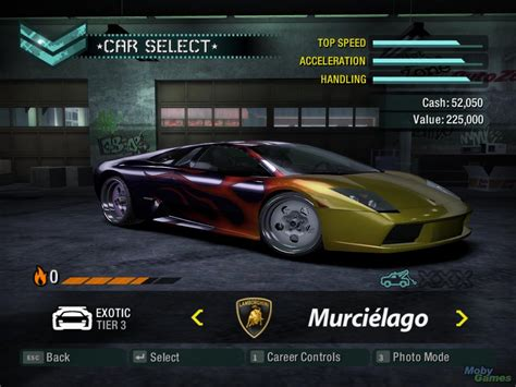 car selection need for speed carbon kuliah game