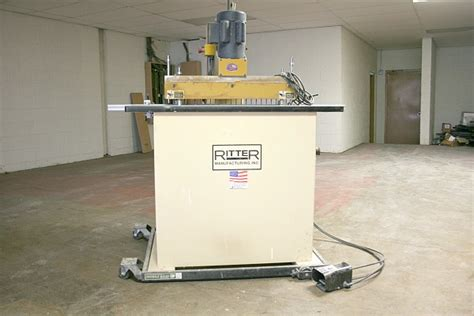 ritter woodworking ritter model r19f 23 spindle single row line drill used