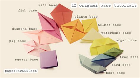 Origami Basic Folds - origami base folds for beginners paper kawaii
