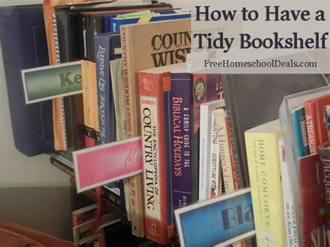 homeschool organization keep your bookshelf neat and tidy
