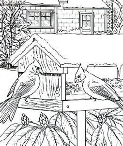 Cardinal bird house coloring page cardinal bird house coloring page