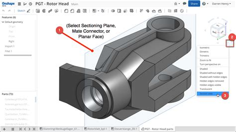 see section a look within onshape s 3d section view see what i did