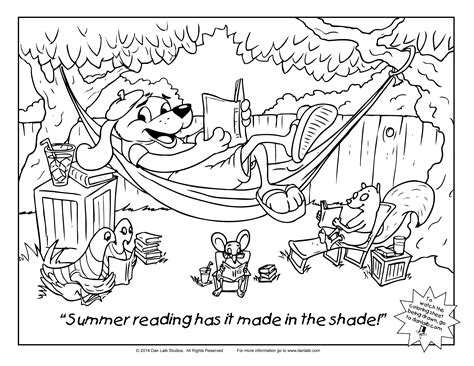 Summer Reading Coloring Page | coloring sheet summer reading danlaib com