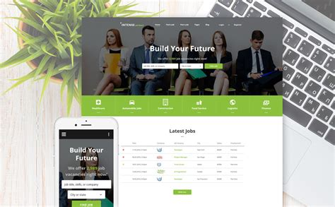 Employment Responsive Web Template Board Website Template
