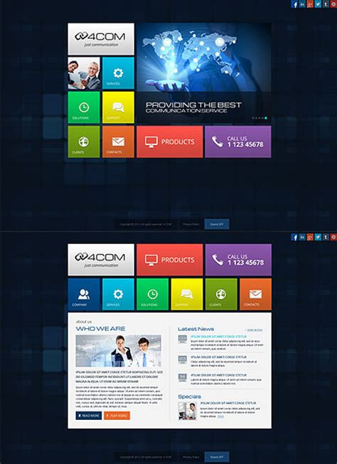 simple html5 templates free 4 communication html5 template 111673 simple templates