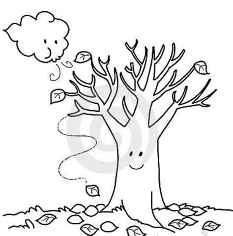 fall trees coloring page falling clipart bare fall tree pencil and in color