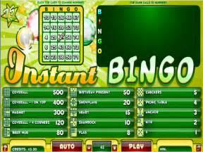 Instan Bergo instant bingo 75 free bingo no deposit required bonus bingoblowout co uk