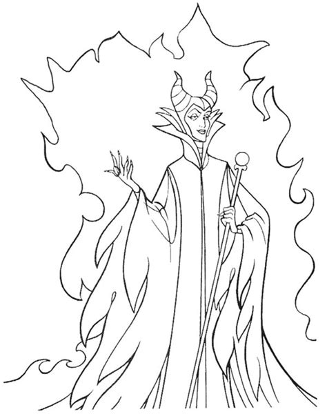 Coloring Pages Disney Villains | disney villains coloring pages print list black and