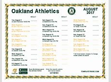 Printable 2017 Oakland Athletics Schedule 2017 Texas Rangers Schedule Printable