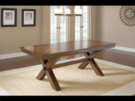 Collapsible Dining Table trestle table trestle table design plans youtube