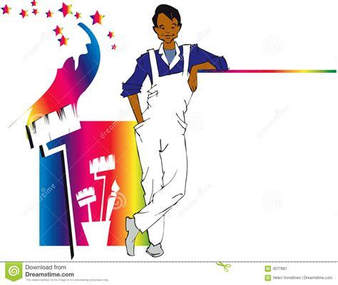 house painter jobs job series house painter cl cartoon vector