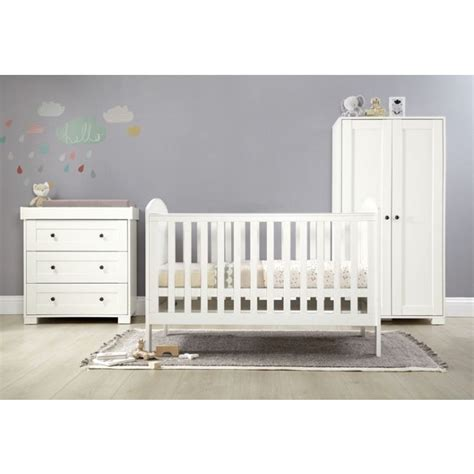 3 nursery furniture set white buy m p harrow 3 furniture set white at argos co