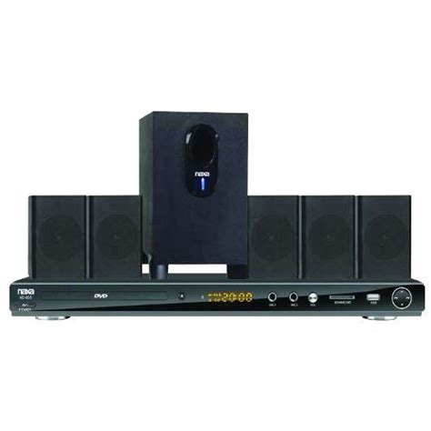 naxa 5 1 channel dvd home theater system with progressive