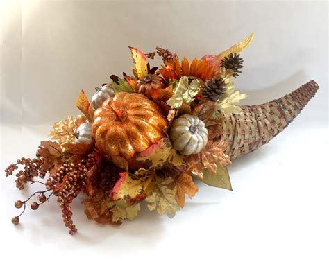 fall silk flower arrangement fall cornucopia centerpiece