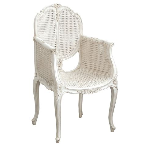 White Wicker Bedroom Chair | provencal rattan white french chair french bedroom company