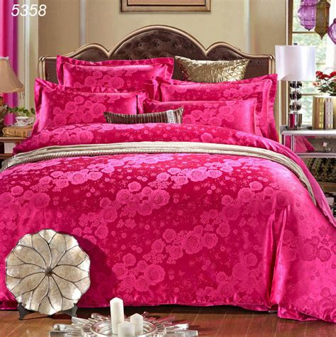 Bed Cover Rumbai Roses Import bedding set king size duvet cover set 4pcs bed covers satin bedspread cotton sheet
