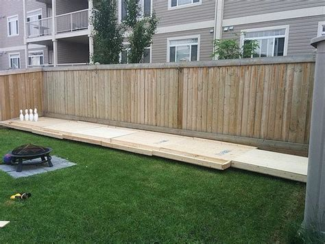 diy backyard bowling alley build your own backyard bowling alley diy ready