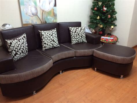 muebles en l muebles en fotma de l reversible marron y tabaco y cromado
