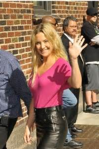 Afida Dres Limited kate hudson at late show with david letterman leather