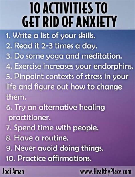 change your get rid of depression anxiety and mental disorder books 10 activities to get rid of anxiety mental health