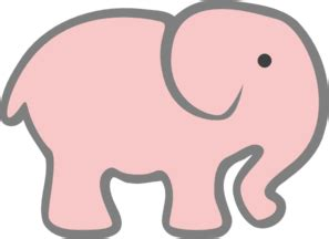 Munira Md 01 Pink Baby pink elephant clip at clker vector clip