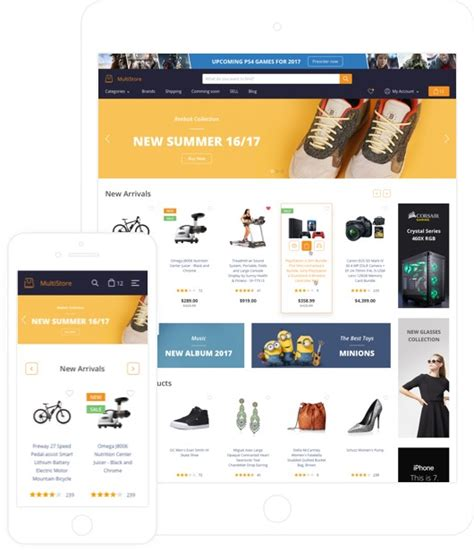 70 Responsive Ecommerce Templates For High Converting Websites Marketplace Website Template