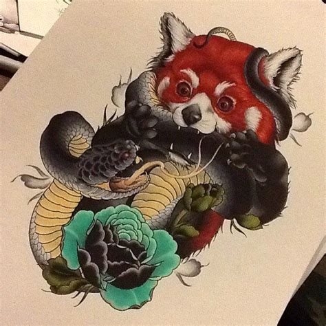 red panda tattoo meaning red panda snake tattoo tattoos pinterest snake