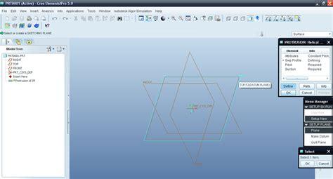 pattern sketch in creo tutorial modeling torsional spring in creo elements aka