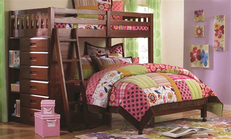 Bunk Bed Bedroom Set by Discovery World Furniture Merlot Loft Bunk