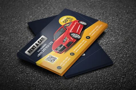 vehicle card template rent a car business card 46 business card templates on