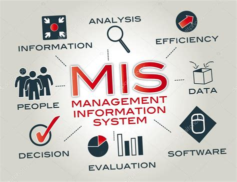 design of management information system management informationssystem mis stockvektor
