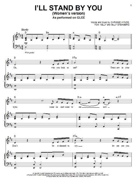 standoff music i ll stand by you sheet music direct
