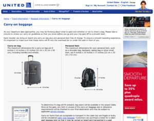 united airlines baggage information united airlines carry on baggage carry on bag policy