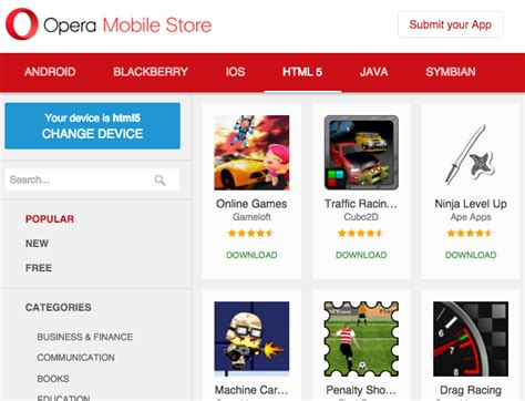java games and apps opera mobile store 5 alternative app stores to sell your apps sitepoint