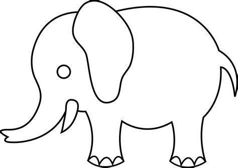 cute elephant template www imgkid com the image kid