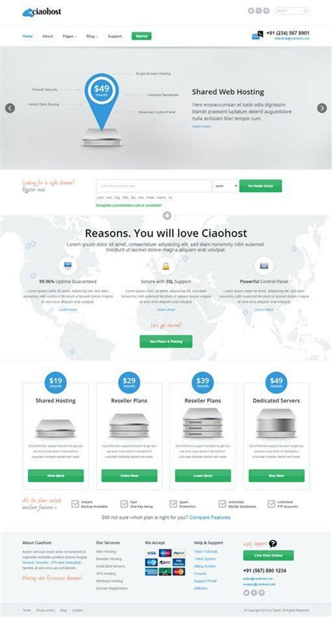 28 best web hosting html website templates web