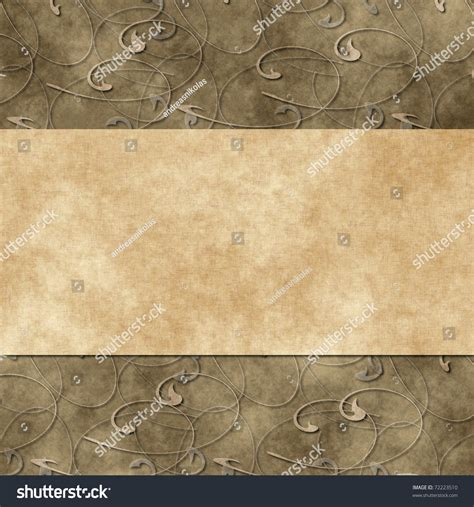 pattern card stock paper floral grunge retro wedding invitation or greeting card on