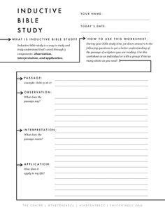 Inductive Bible Study Worksheet by 1000 Ideas About Inductive Bible Study On