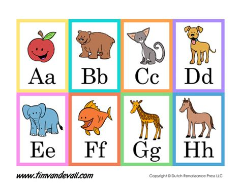 printable alphabet cards with pictures printable alphabet flash cards language arts printables