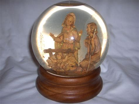 large snow globe large nativity snowglobe san francisco box