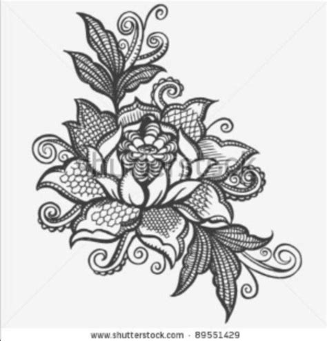 Flowers Lace lace flower tattoos lace lotus