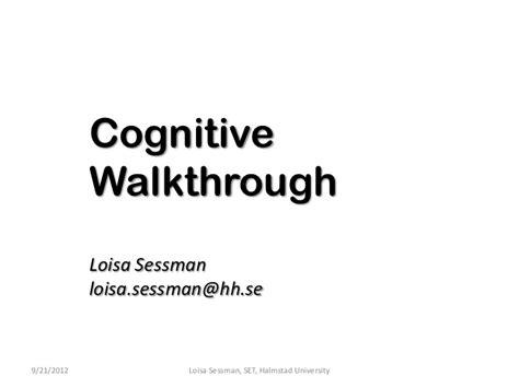 template for cognitive walk through report cognitive walkthrough
