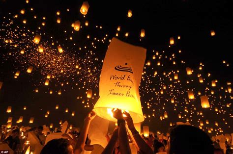 new year peace lantern festival spectacular images thousands of students release lanterns