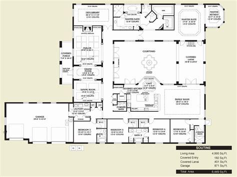 hacienda house plans center courtyard inspirational