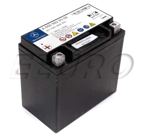 mercedes auxiliary battery genuine mercedes auxiliary battery sbc 0009829608 free