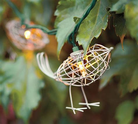 Bird String - wire bird string lights for the outdoors