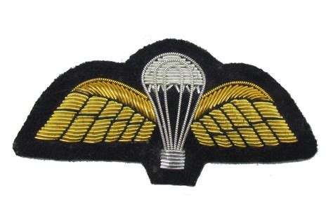 wings sew on embroidered patch badge air force military uniform r1760 parachute wings hand embroidered patch badge air force