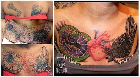 tattoo nightmares nipple tattoo coverup chest piece by carlos garza click on the image
