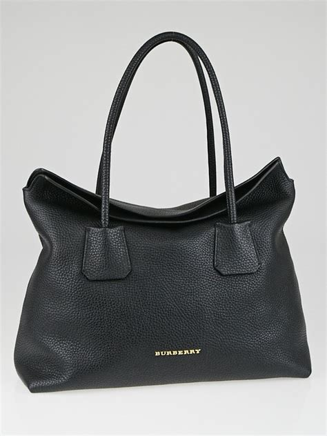 Burberry Tote by Burberry Black Grained Leather Baynard Tote Bag Yoogi S