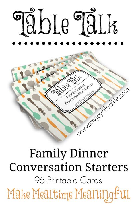 printable family dinner conversation starters cards my - Dinner Conversation Starters Cards